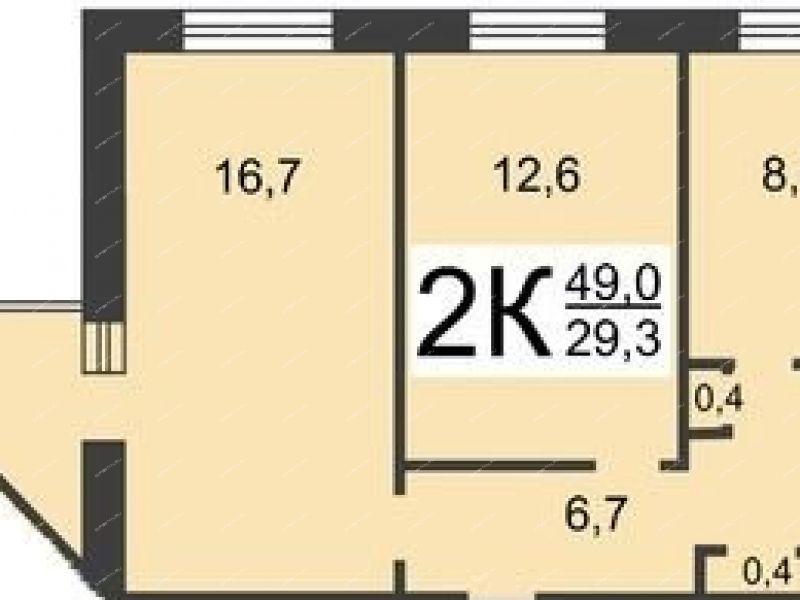комната в доме 2 на улице Композитора Касьянова