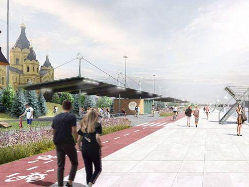 Новая Окская набережная: променад, амфитеатр и пикники на воде