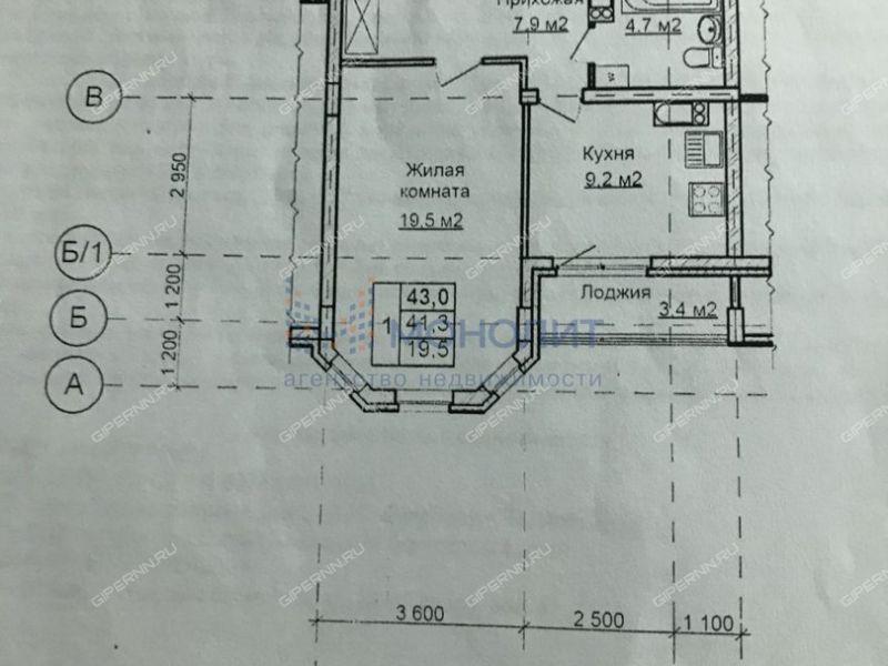 однокомнатная квартира на улице Первоцветная дом 4 к1