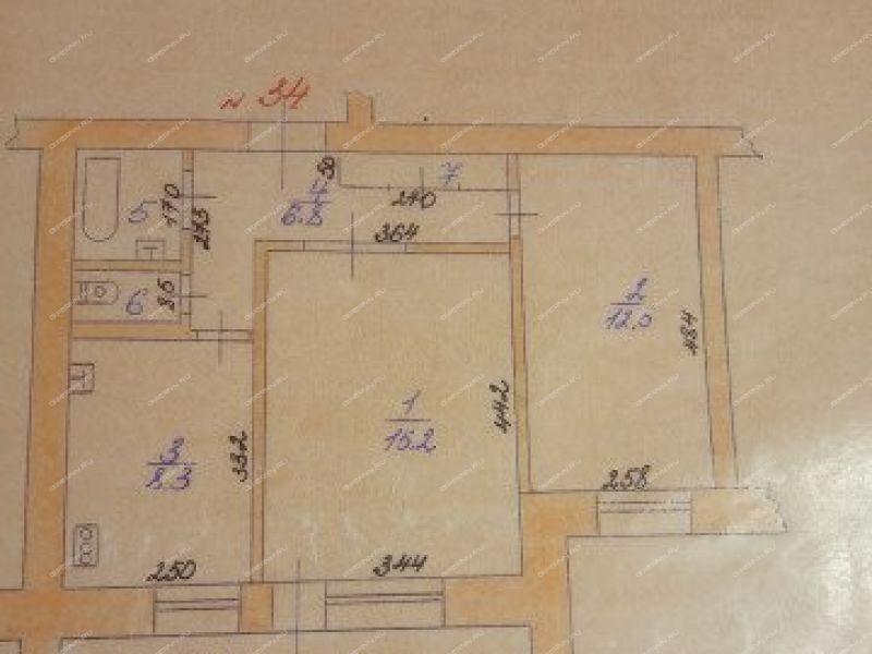 двухкомнатная квартира на улице Красные Зори город Выкса