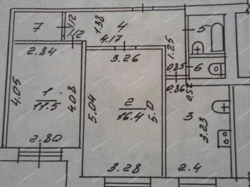 двухкомнатная квартира на улице Курчатова дом 32 город Саров
