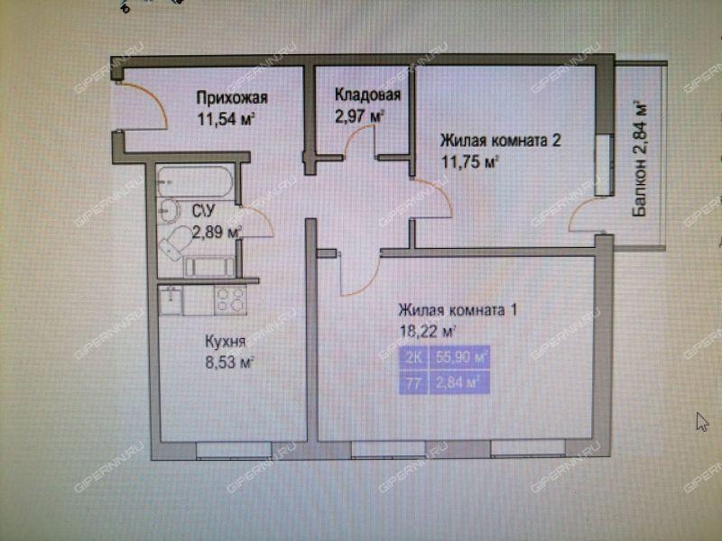 двухкомнатная квартира на Малоэтажной улице дом 45